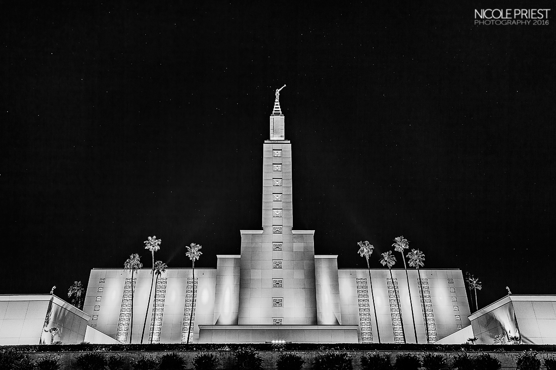 Nicole Priest Photo-Los Angeles Temple IMG_0050-BW copy